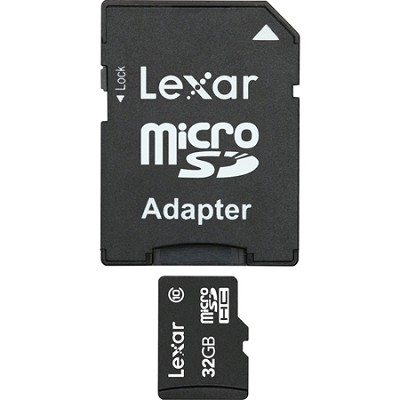 32GB microSDHC Mobile w/ adapter  (Secure Blister) Class 10