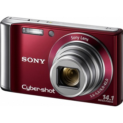 Cyber-shot DSC-W370 14MP Red Digital Camera w/ 720p HD Video - REFURBISHED