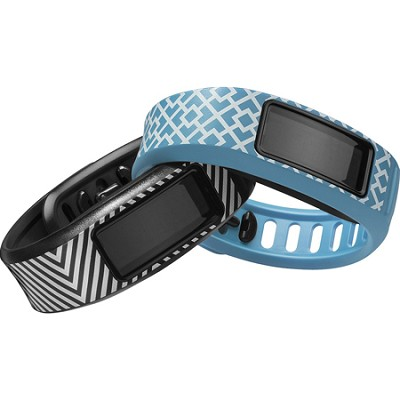 Vivofit 2 Fitness Band Style Collection Bundle Black/Cyan - English Packaging