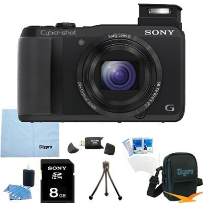 Cyber-shot DSC-HX30V 18.2 MP 20x Optical Zoom Wifi Ultrazoom Camera 8GB Bundle