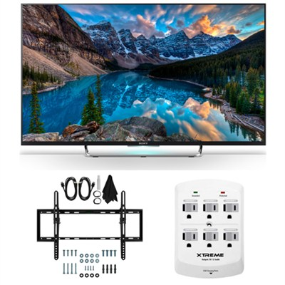 KDL-50W800C - 50-Inch 120Hz 3D Smart LED HDTV Flat & Tilt Wall Mount Bundle