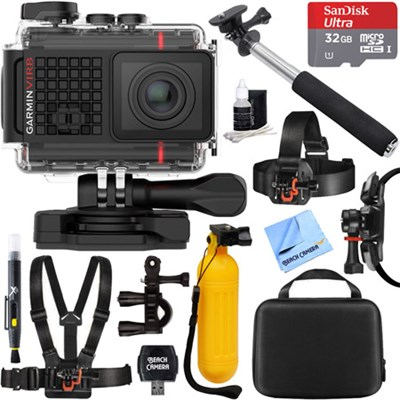 VIRB Ultra 30 HD 4K Bluetooth Action Camera Built-in GPS 32GB Outdoor Mount Kit