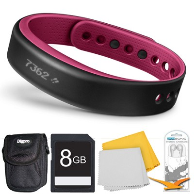 vivosmart Bluetooth Fitness Band Activity Tracker - Small - Berry Deluxe Bundle