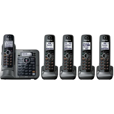 KX-TG7645M DECT 6.0 Link-to-Cell via Bluetooth Cordless Phone with Anwering Syst