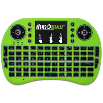 2.4GHz Mini Wireless Backlit Keyboard with Touchpad Mouse - Green (STV300G)