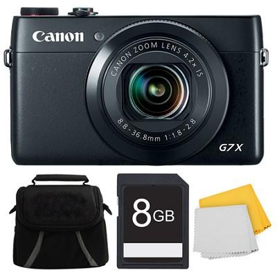 PowerShot G7 X Digital Camera 8GB Bundle