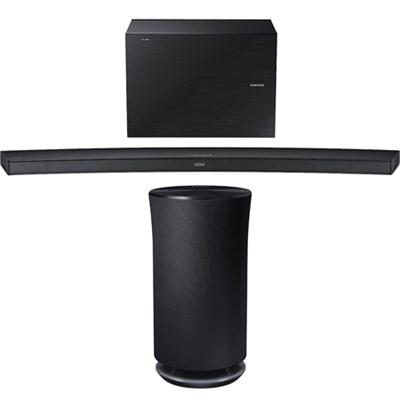4.1 Channel Curved Wireless Audio Soundbar w/ Radiant 360 R3 Bluetooth Speaker