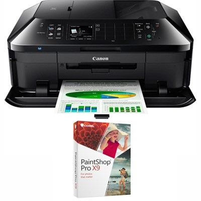 PIXMA MX922 Wireless Inkjet Office All-In-One Printer + Paintshop Pro X9