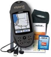 eXplorist 400 Wilderness Bundle Rugged Compact Handheld GPS Receiver