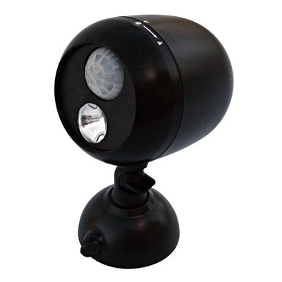 180-Degree Wireless Motion Sensing LED Flood Light, 80-Lumens, Black