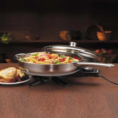 FSS330A 12 Stainless Steel Electric Skillet
