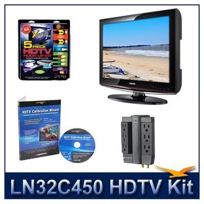 LN32C450 - HDTV + High-performance Hook-up Kit + Power Protection + Calibration
