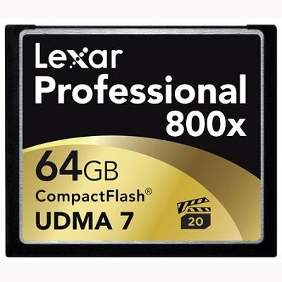 64 GB Professional 800x Compact Flash (Thin Box) 2-Pack (LCF64GCTBNA8002)