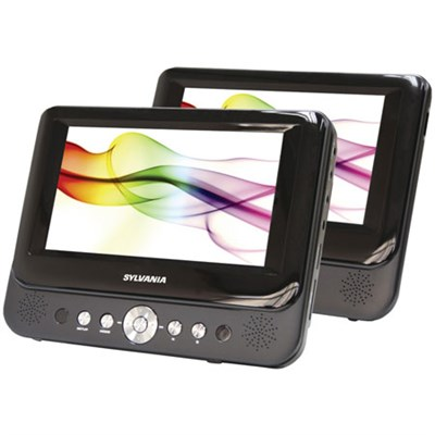 SDVD8739 7-Inch Dual Screen Portable DVD Player - OPEN BOX