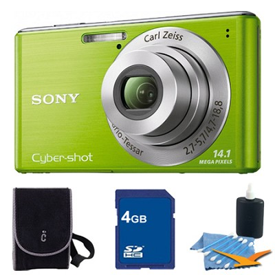 Cyber-shot DSC-W530 Green Digital Camera 4GB Bundle