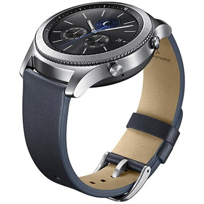 Gear S3 Classic Leather Band for Gear S3 Classic & Frontier Watch - Navy Blue