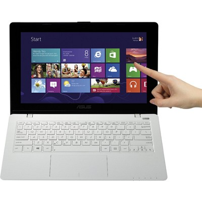 K200MA-DS01T 11.6-Inch Touchscreen Intel Celeron N 2815 Notebook - White