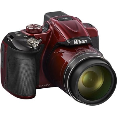 COOLPIX P600 16.1MP Digital Camera (Red) - Manufacturer Refurbished