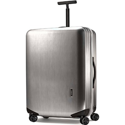 Inova 30 Inch Hardside Upright Spinner Metallic Brushed Silver New
