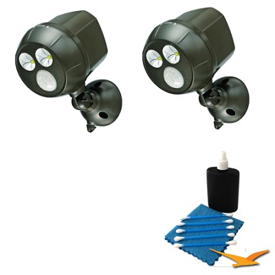 300-Lumen Wireless Battery Powered LED Ultra Bright Spotlight 2 Pack Bundle