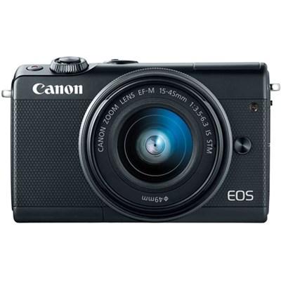 EOS M100 24.2MP Mirrorless Digital Camera with EF-M 15-45mm IS STM Lens (Black)