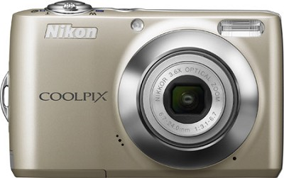 COOLPIX L22 Digital Camera (Champagne Silver)