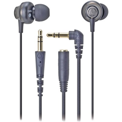 ATH-CKM55BK Solid Bass Noise Isolation In-Ear Headphones - Black