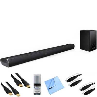 2.ch 120W Soundbar w/ Subwoofer Plus Hook-Up Bundle - LAS350B