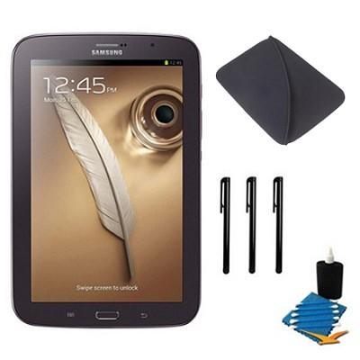 8` Galaxy Note 8.0 16GB Brown Tablet Essentials Bundle