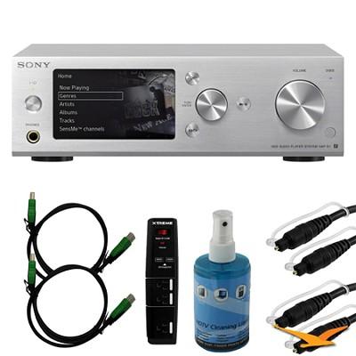 HAPS1/B 500GB Hi-Res Music Player System - Silver Bundle