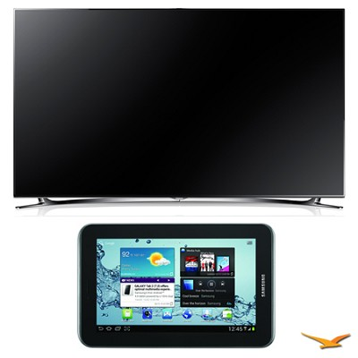 UN75F8000 75` 1080p 240hz 3D LED Smart HDTV and Galaxy Tab 2 Bundle