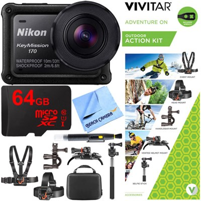 KeyMission 170 Ultra HD Action Camera w/ Built-In Wi-Fi + Outdoor Action Bundle