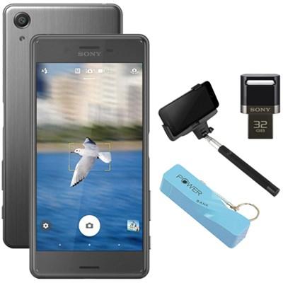Xperia X Performance 32GB 5` Smartphone Unlocked Mobile Selfie Bundle - Black