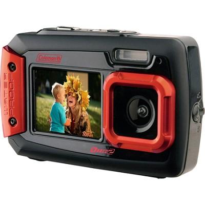 Duo2 2V9WP Rugged Dual Screen Waterproof Camera - Red