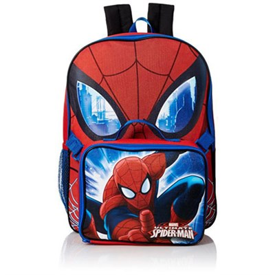 Marvel Boys' Spiderman 16 in Backpack With Lunch Kit
