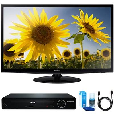 UN28H4000 28` Slim LED HD 720p TV w/ HDMI DVD Player Bundle
