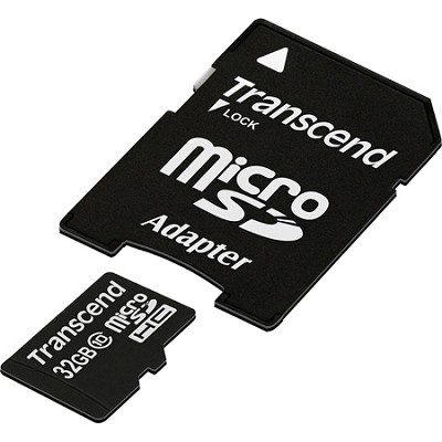 TS32GUSDHC10 - 32GB microSDHC Class 10 with Adapter
