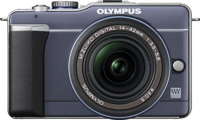 PEN E-PL1 with 14-42mm Lens Digital SLR Kit (Blue)