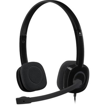 H151 3.5mm Analog Stereo Headset with Boom Microphone - 981-000587
