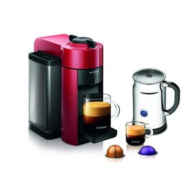 Vertuoline Evolu GCC1 Espresso Maker/Coffee Maker Cherry Red/Aero+ Bundle
