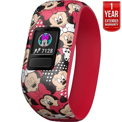 Vivofit jr. 2 Minnie Mouse Activity Tracker for Kids + 1 Year Extended Warranty