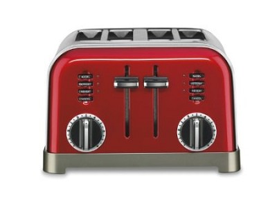 CPT-180MR 4-Slice Metal Classic Toaster (Mettalic Red)