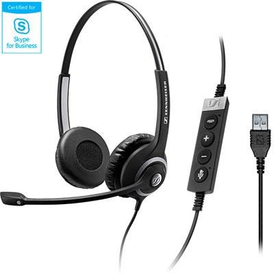 USB Professional Wired Dual-Sided Communication Headset - 506483