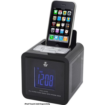 iPod iPhone Clock Radio W/ FM Receiver And Dual Alarm Clock (Black)