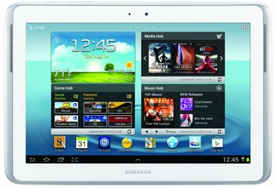 10.1` Galaxy Note 16GB Slate Tablet (White)- Recertified 90 Day Warranty