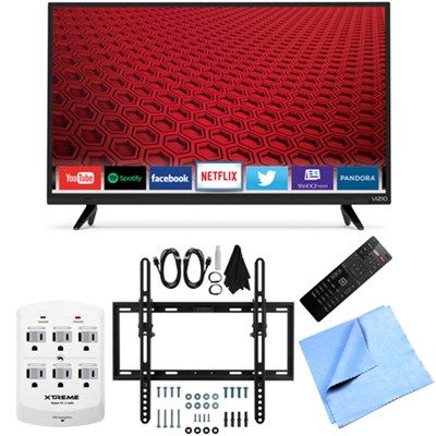 E32h-C1 - 32-Inch 720p LED Smart HDTV Flat & Tilt Wall Mount Bundle