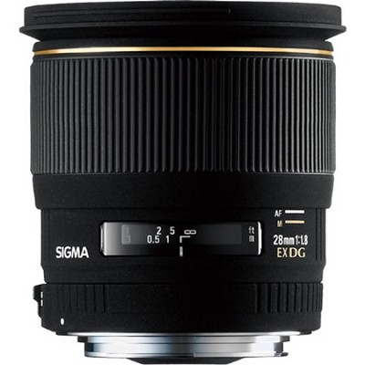 28mm F1.8 EX DG Aspherical RF Macro Nikon Lens (Factory Refurbished)