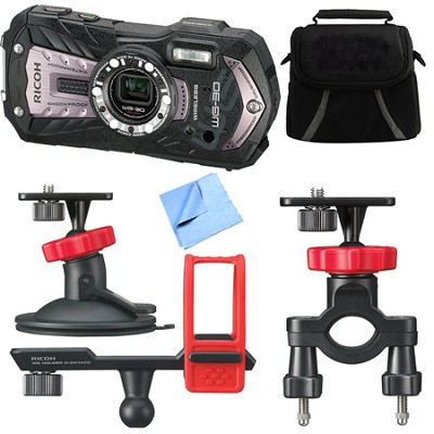 WG-30W Digital Camera with 2.7-Inch LCD Carbon Gray Action Bundle