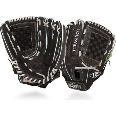 12 Inch FG Zephyr Softball Infielders Glove Left Hand Throw - Black