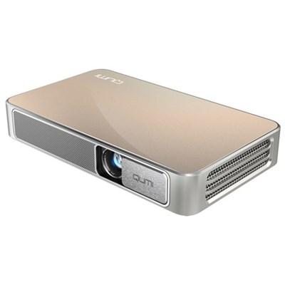 Qumi Q3 Plus 500 Lumen Ultra HD 720p Pocket DLP Projector with Wi-Fi (Gold)